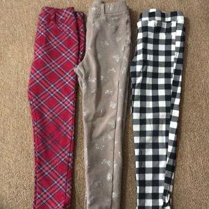 Girls leggings- 3 pairs